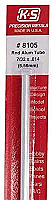 K&S Engineering 8105 All Scale - 7/32 inch OD Round Aluminum Tube 0.014inch Thick x 12inch Long