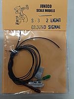 Juneco HO S-3   4.75  2 Lt Ground Signal w/12V bulbs