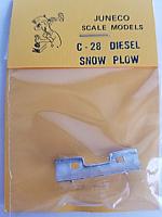 Juneco Scale Models C-28 Diesel Loco Snow Plow