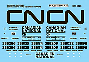 Microscale Decals 4228 - HO Mini-Cal Centerflow 3-Bay Covered Hoppers (1995+) - Canadian National