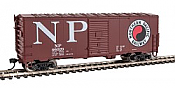 Walthers Mainline 1198 - HO 40ft AAR Modernized 1948 Boxcar - Northern Pacific #46090