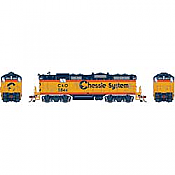 Athearn Genesis G82208 HO Scale - GP7 Diesel, DCC/ Ready - C&O/ Chessie #5844