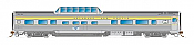Rapido Trains 550113 - N Skyline Mid-Train Dome Coach - Delaware & Hudson