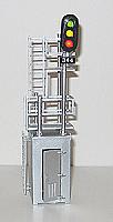 N.J. International 1071 HO House Mast Combination Signal D Type Signal Head 3 Lite & Opening Doors 1 Pair