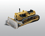 Woodland Scenics 233 - HO Bulldozer w/Blade - Unpainted Metal Kit