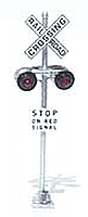 NJ International 1160 HO Scale - Crossing Gate Signals - Assembled - A Type Arm Red/White - pkg(2)
