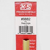 K&S Engineering 9882 All Scale - 12inch Long Brass Angle - 0.014inch Thick x 1/4 inch Leg Length