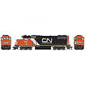 Athearn Genesis G68854 HO Scale - GP38-2 - DCC & Sound - Canadian National/IC w/Web site logo #9571