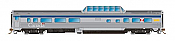Rapido Trains 550112 - N Skyline Mid-Train Dome Coffee Shop - VIA Rail Canada, HEP/Canada Scheme