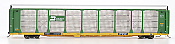 InterMountain 45253-06 HO - Bi-Level Auto Racks - Burlington Northern Rack on TTGX Flat Car #TTGX 157598