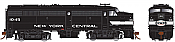 Rapido 21585 HO - DC/DCC/Sound - Alco FA-2 New York Central (Cigar Band) #1045 - Pre-order