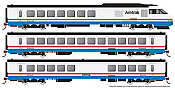 Rapido 25004 - HO Rohr Turboliner - DC/ Silent - Amtrak Phase 3 (late) - set #4