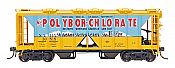 Intermountain 48643-05 HO 1958 Cu Ft 2 Bay Covered  Hopper- Open Sides - Polybor-Chlorate NAHW #30518