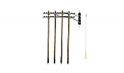Woodland Scenics 2281 - O Scale Utility System - Double-Crossbar Pre-Wired Poles