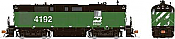 Rapido 31556 HO - Alco RS-11, 2nd Run - Diesel Locomotive - DCC & Sound - Burlington Northern - Green and Black #4197