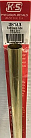 K&S Engineering 8143 All Scale - 5/8 inch OD Round Brass Tube 0.014inch Thick x 12inch Long