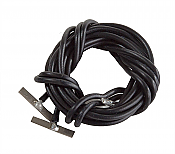 Walthers Track 83103 - Code 83 or 100 Nickel Silver Terminal Joiners pkg(2) - Includes Black 22-Gauge Wire