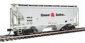 Walthers 7543 HO Scale - 39Ft Trinity 3281 2-Bay Covered Hopper - NorRail Ciment Quebec Inc. NRLX #34069