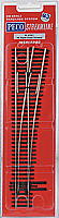 Peco Code 83 SL 8361 Streamline #6 Insulfrog Turnout - Nickel Silver Right Hand HO Scale Track