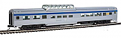 Walthers MainLine HO 30405 85 Ft Budd Dome Coach - Ready to Run - Via Rail Canada (silver, blue, yellow)