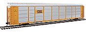 Walthers Proto 101422 - HO 89ft Thrall Enclosed Tri-Level Auto Carrier - CSX/ETTX Flat #T8760/710157