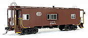 Tangent Scale Models 60110-04 - HO N7 Class Steel Bay Window Caboose - New York Central (Delivery Brown w/ White Logo 1949+) #20252
