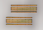 Blair Line 165 HO - Laser Cut 2-Lane Wood Grade Crossing Kit - pkg(2)