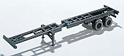 Walthers 4105 HO SceneMaster Extendible Container Chassis - Kit - 40 FT to 48 FT. - Adjustable -2  Complete Chassis kits