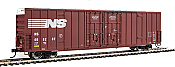 Walthers 2943 HO 60ft High Cube Plate F Boxcar Norfolk Southern #469262