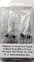 NJ International 1169 Pedestal-Type Crossing Gate Signals - Assembled - Right-Hand Drop & Left-Hand Drop
