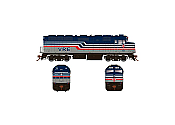 Rapido 083121 HO Scale EMD F40PH Ph2 with Ditch Lights, Standard DC, Virginia Railway Express No.V35
