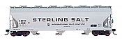 Intermountain 47026-09 HO RTR- ACF 4650 3-Bay Hopper - Sterling Salt #48970