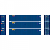 Athearn RTR 24559 HO 45ft Container - Seaco (3pk)