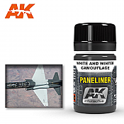AK Interactive 2074 Air Series Paneliner White and Winter Camouflage Enamel Paint 35ml