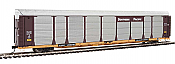 WalthersProto 101345 HO - 89ft Thrall Bi-Level Auto Carrier - Ready To Run - Southern Pacific Rack, TTGX Flatcar #255048
