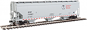 Walthers Mainline - 7609 HO 60 ft NSC 5150 3-bay Covered Hopper - CP Rail/SOO #119161