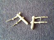 Miniatures By Eric W6 HO Scale parts - Brass F Unit Windshield Wipers