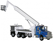 Herpa Models HO 6533 - Blue  Peterbilt 367 Boom/Cherry Picker Truck - Assembled - GCS