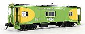 Tangent Scale Models 60117-01 - HO N7 Class Steel Bay Window Caboose - Illinois Terminal (Green Oval Scheme Repaint 1960+) #981