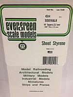Evergreen Scale Models 4514 - 1/8in x 1/8in Opaque White Polystyrene Sidewalk (1 Sheet)