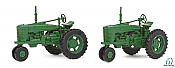 Walthers SceneMaster HO 4161 Green Farm Tractor 2 Pk