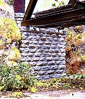 Chooch Enterprises Single Track Cut Stone Bridge Abutment