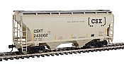 Walthers 7536 HO Scale - 39Ft Trinity 3281 2-Bay Covered Hopper - CSX Transportation CSXT #243002