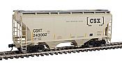 Walthers 7536 HO Scale - 39Ft Trinity 3281 2-Bay Covered Hopper - CSX Transportation CSXT #243002