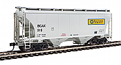 Walthers 7525 HO Scale - 39Ft Trinity 3281 2-Bay Covered Hopper - Blue Circle Cement BCAX #215