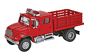 Walthers SceneMaster - International 4900 Fire Department Utility Truck - Assembled- Red