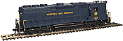 Atlas Model Railroad Co. 10002418 HO Scale EMD GP38 High Nose w/Sound & DCC - Master(R) Gold -- Norfolk & Western (Blue/Imitation Gold) #1374 150-10002418