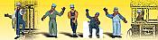 Woodland Scenics 2153 - N Scenic Accent Figures - Engineers (6/pkg)