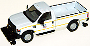 River Point Station 538505887 HO Ford F-350 XL SRW Pickup Truck w/Hy-Rail Wheels, Standard Cab - Union Pacific