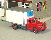 Sylvan Scale Models 311 HO Scale - 1948-53 Chevy Conventional Refrigerated Truck - Unpainted and Resin Cast Kit